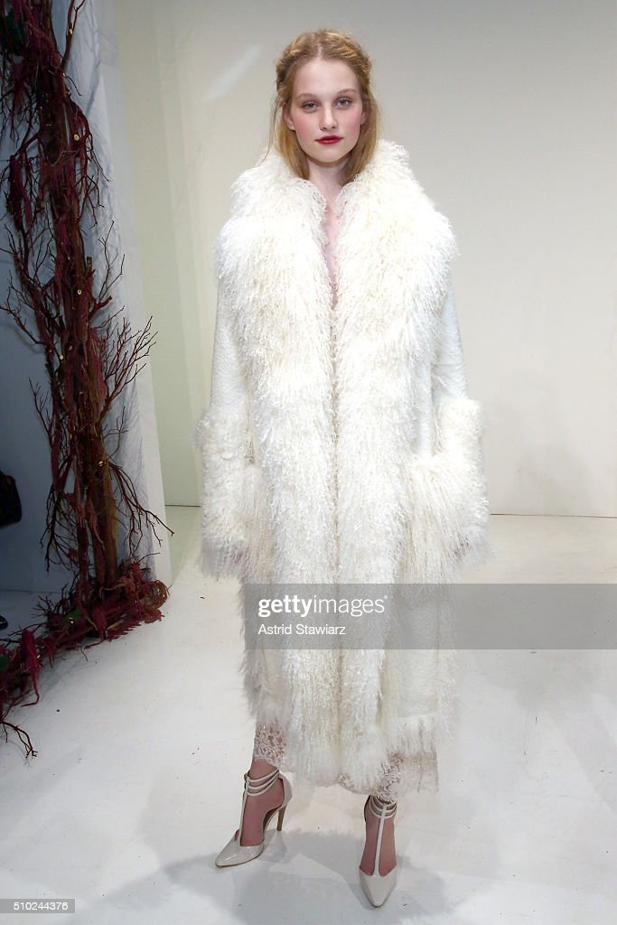 A model poses wearing Rachel Zoe Fall 2016 during New York Fashion Week: The Shows at The Space, Skylight at Clarkson Sq on February 14, 2016 in New York City.