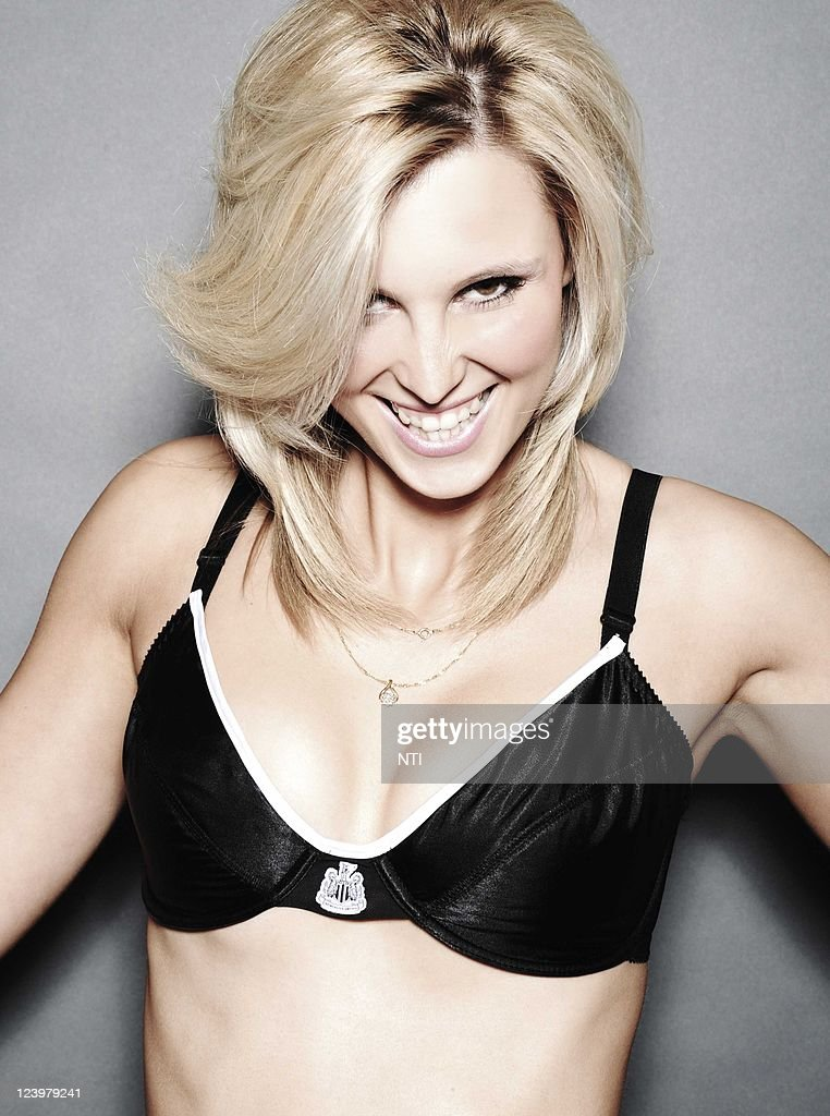 A model poses whilst wearing items from the Newcastle United FC lingerie range on September 6, 2011 in newcastle, United Kingdom.