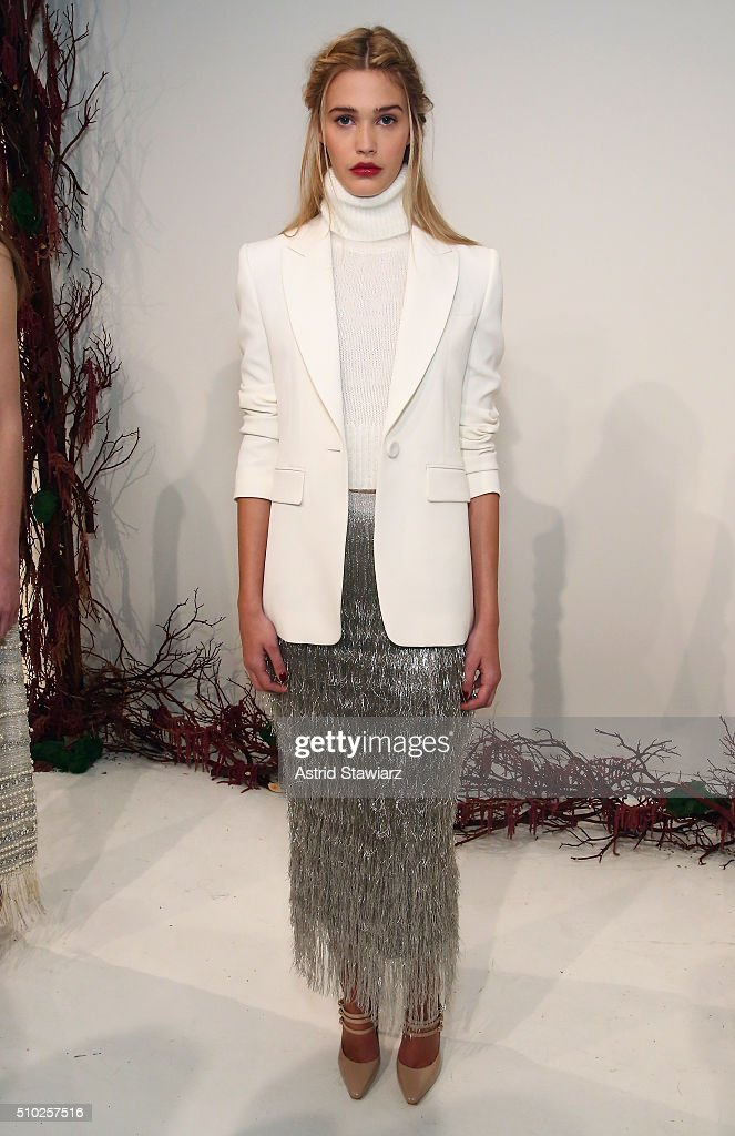 A model poses with hair by TRESemme at the Rachel Zoe A/W16 Presentation during New York Fashion Week: The Shows at The Space, Skylight at Clarkson Sq on February 14, 2016 in New York City.
