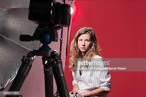 Model posing at fashion shoot : Stock Photo