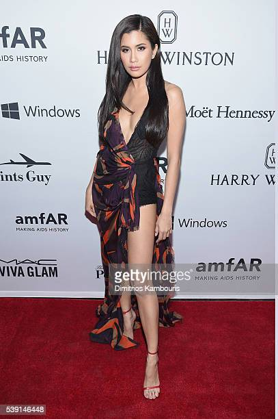 Model Praya Lundberg attends the 7th Annual amfAR Inspiration Gala at Skylight at Moynihan Station on June 9 2016 in New York City