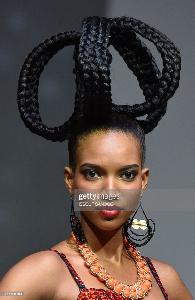 Amazing A Model Present A Hair Creation By Ivory Coast39S Hairstyles Short Hairstyles Gunalazisus
