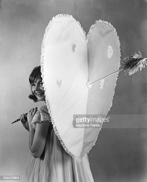 Model Presenting A Saint Valentine'S Day Umbrella On April 16 1964