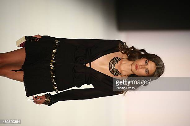 DES 17 JUNI BERLIN GERMANY Model presenting the Dimitri creations at MercedesBenz Spring/Summer 2016 Collection of Fashion Week Berlin