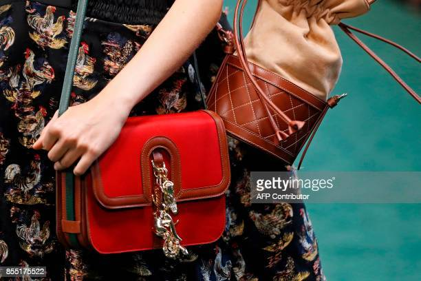 A model presents a creation by Carven during the women's 2018 Spring/Summer readytowear collection fashion show in Paris on September 28 2017 / AFP...