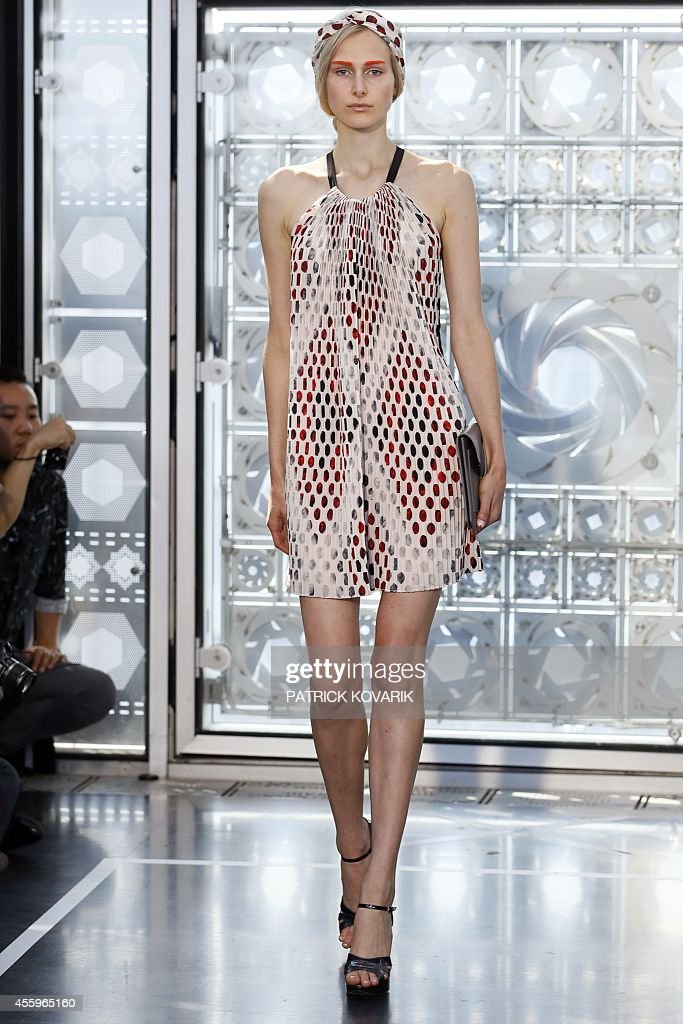 A model presents a creation by Christine Phung during the 2015 Spring/Summer readytowear collection fashion show on September 23 2014 in Paris AFP...