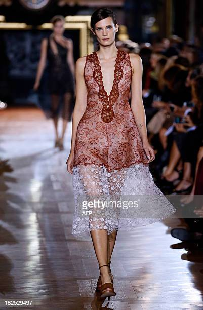 A model presents a creation by Stella McCartney during the 2014 Spring/Summer readytowear collection fashion show on September 30 2013 in Paris AFP...