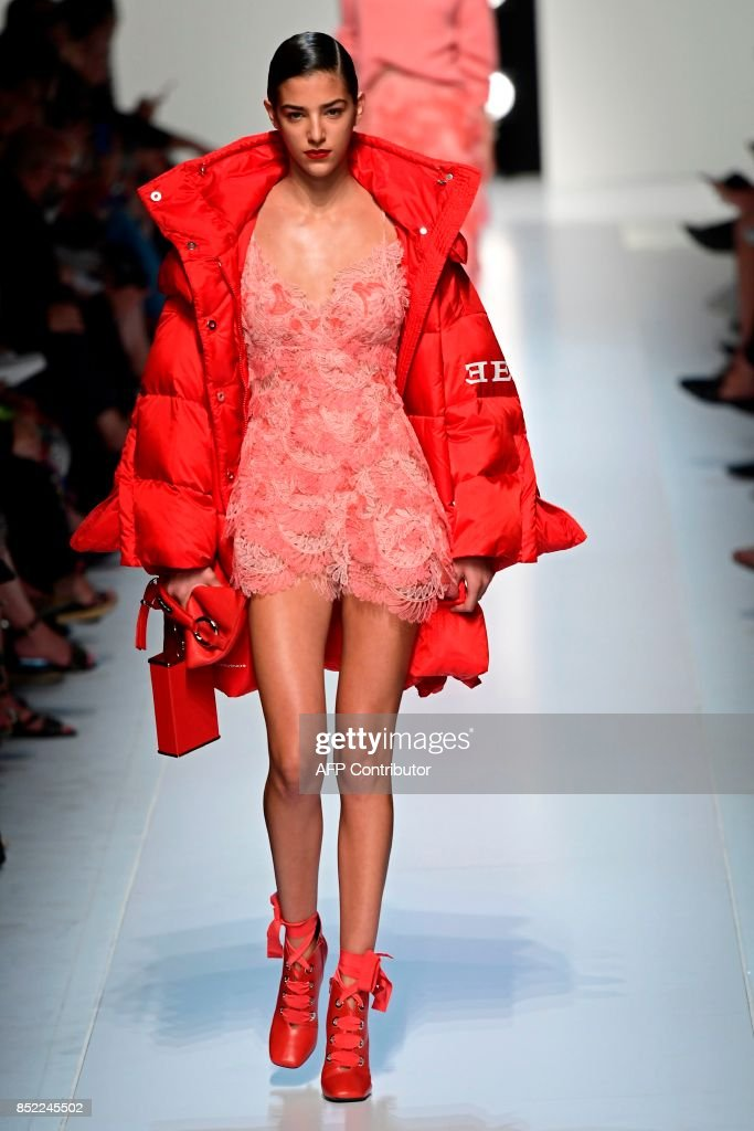 model-presents-a-creation-for-fashion-house-ermanno-scervino-during-picture-id852245502