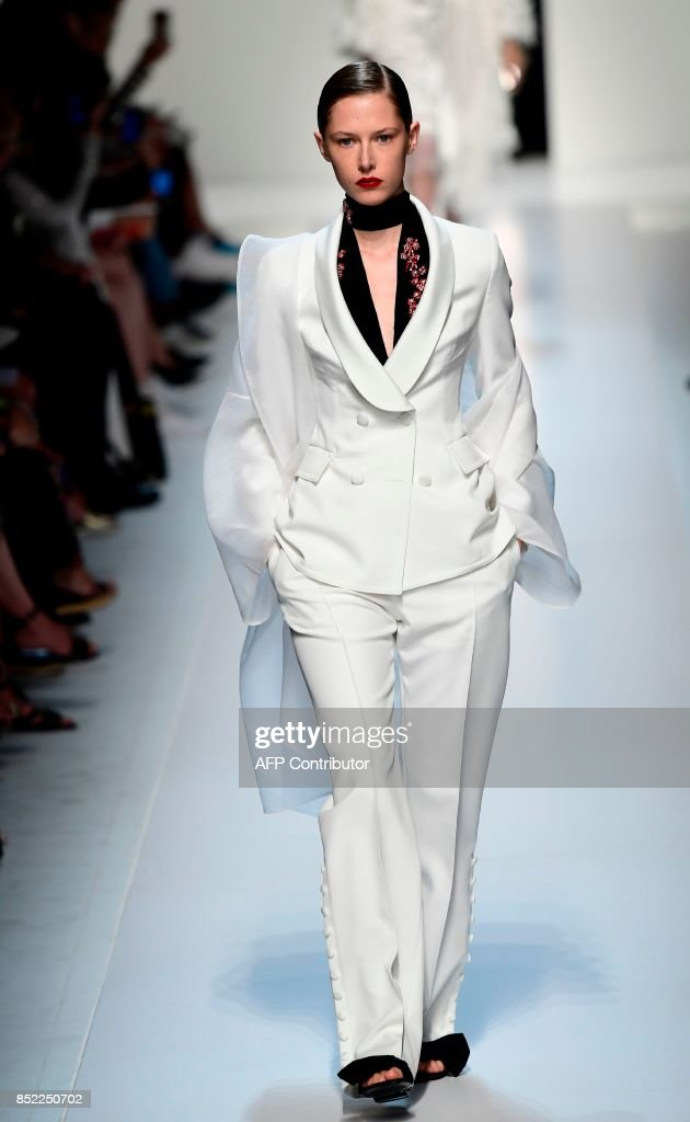 model-presents-a-creation-for-fashion-house-ermanno-scervino-during-picture-id852250702