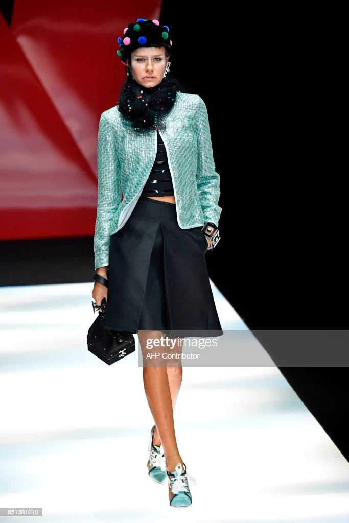 model-presents-a-creation-for-fashion-house-giorgio-armani-during-the-picture-id851381010