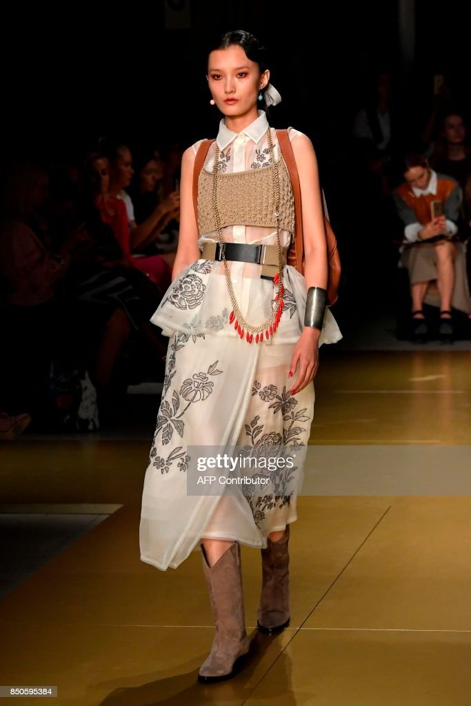 model-presents-a-creation-for-fashion-house-les-copains-during-the-picture-id850595384