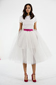 A model presents Houghton Bride Fall/Winter 2015 Collection at Industria Superstudio on October 9 2014 in New York City