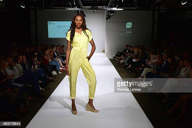 A model presents 'Marion Kracht for Lana' on 'Ethical Fashion on Stage' of the Ethical Fashion Show Berlin on July 9 2015 in Berlin Germany Bigger...
