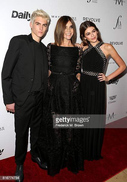 Model Presley Gerber CR Fashion Book Magazine of the Year honoree Carine Roitfeld and model Kaia Gerber attend the Daily Front Row 'Fashion Los...