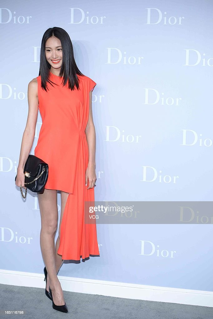 Model Qin Shupei attends Christian Dior S/S 2013 Haute Couture Collection at Five on the Bund on March 30, 2013 in Shanghai, China.