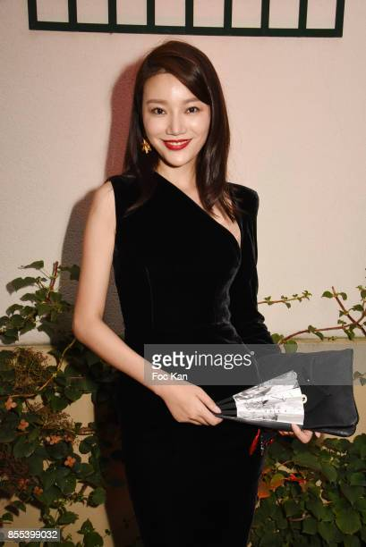 Model Qiu Yuting attends the 'J by Jordy' Show as part of the Paris Fashion Week Womenswear Spring/Summer 2018 on September 28 2017 in Paris France