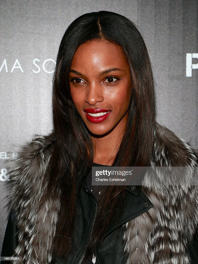 Model Quiana Grant attends The Cinema Society and Men's Fitness screening of 'Pain and Gain' at the Crosby Street Hotel on April 15, 2013 in New York City.