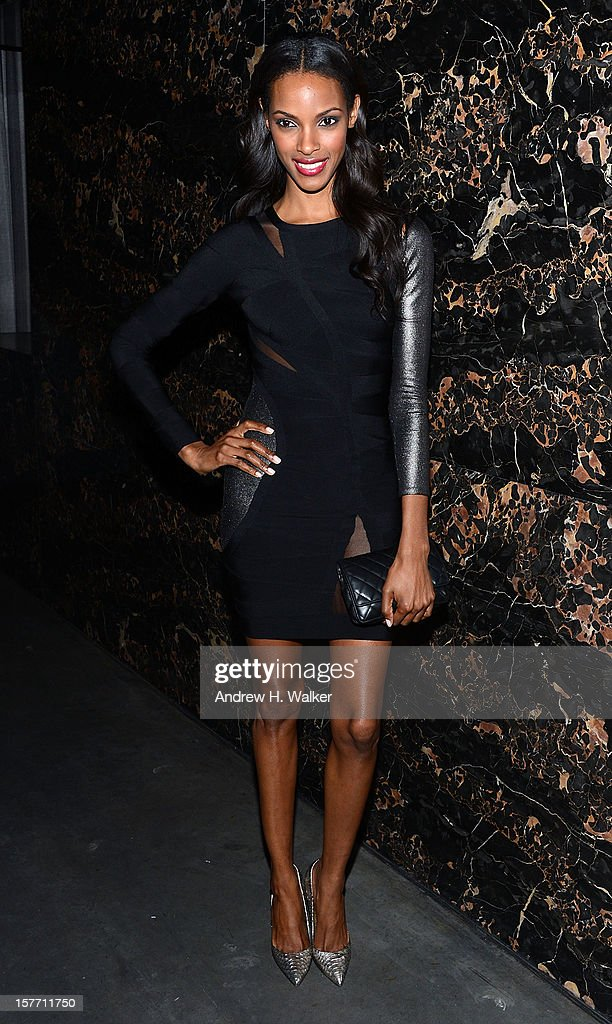 Model Quiana Grant attends the Film District and Chrysler with The Cinema Society premiere of 'Playing For Keeps' after party at Dream Downtown on December 5, 2012 in New York City.