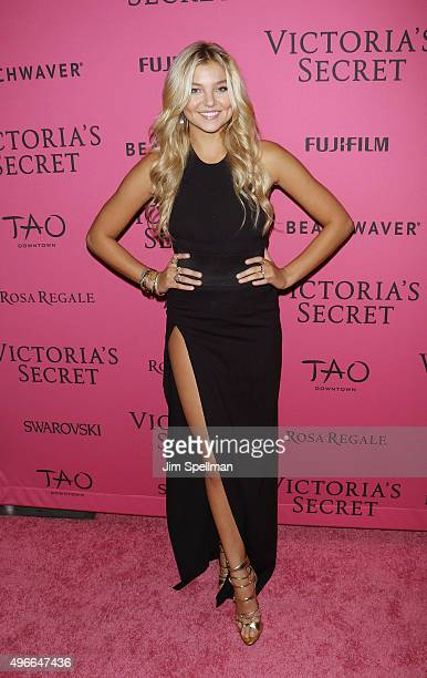 Model Rachel Hilbert attends the 2015 Victoria's Secret Fashion Show after party at TAO Downtown on November 10 2015 in New York City