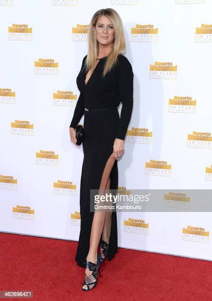 Model Rachel Hunter attends NBC and Time Inc celebrate the 50th anniversary of the Sports Illustrated Swimsuit Issue at Dolby Theatre on January 14...
