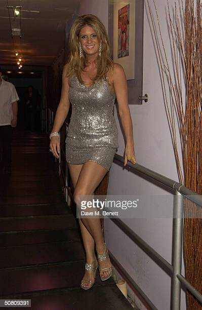 Model Rachel Hunter attends the launch and 40th anniversary party for 'Sports Illustrated Swimsuit Issue 2004' on May 6 2004 at The Collection in...
