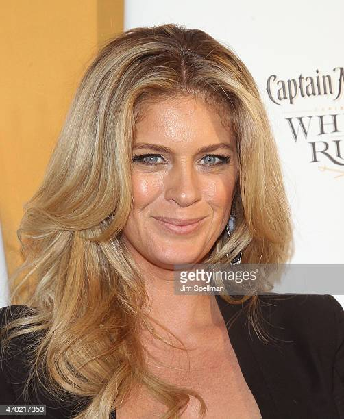 Model Rachel Hunter attends the Sports Illustrated Swimsuit 50th Anniversary Party at Swimsuit Beach House on February 18 2014 in New York City