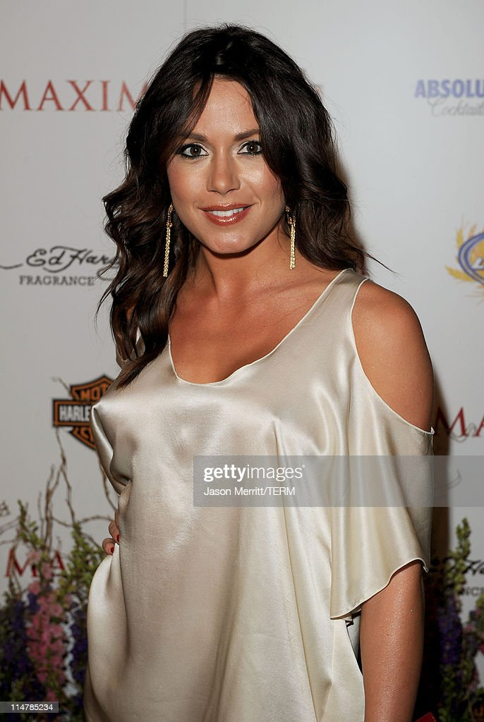 Model Rachelle Leah arrives at the 11th annual Maxim Hot 100 Party with Harley-Davidson, ABSOLUT VODKA, Ed Hardy Fragrances, and ROGAINE held at Paramount Studios on May 19, 2010 in Los Angeles, California.