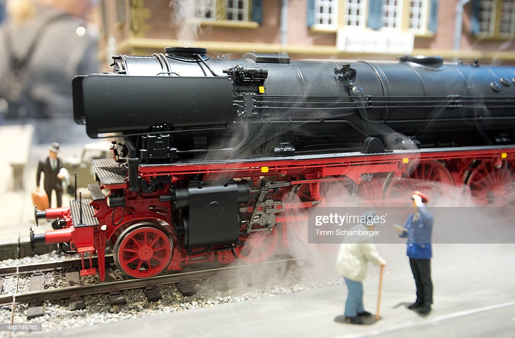 A model railway by KM1 is pictured at the Nuremberg International Toy Fair (Nuernberger Spielwarenmesse) on January 29, 2014 in Nuremberg, Germany. The Nuremberg toy fair, which is the world's biggest trade fair for toys, is open to the public from January 29 until February 3.