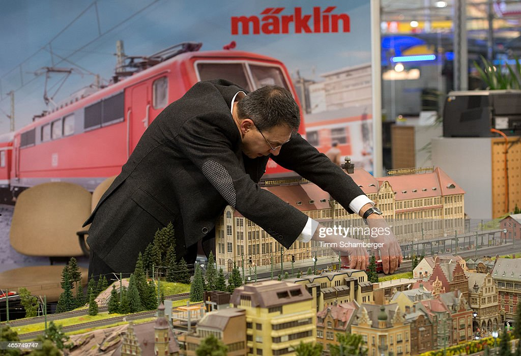 A model railway by Maerklin is pictured at the Nuremberg International Toy Fair (Nuernberger Spielwarenmesse) on January 29, 2014 in Nuremberg, Germany. The Nuremberg toy fair, which is the world's biggest trade fair for toys, is open to the public from January 29 until February 3.