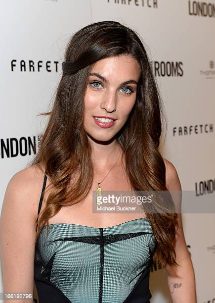 Model Rainey Qualley attends the British Fashion Council LONDON Show ROOMS LA AW13 Opening Party at Thompson Hotel on April 9 2013 in Beverly Hills...