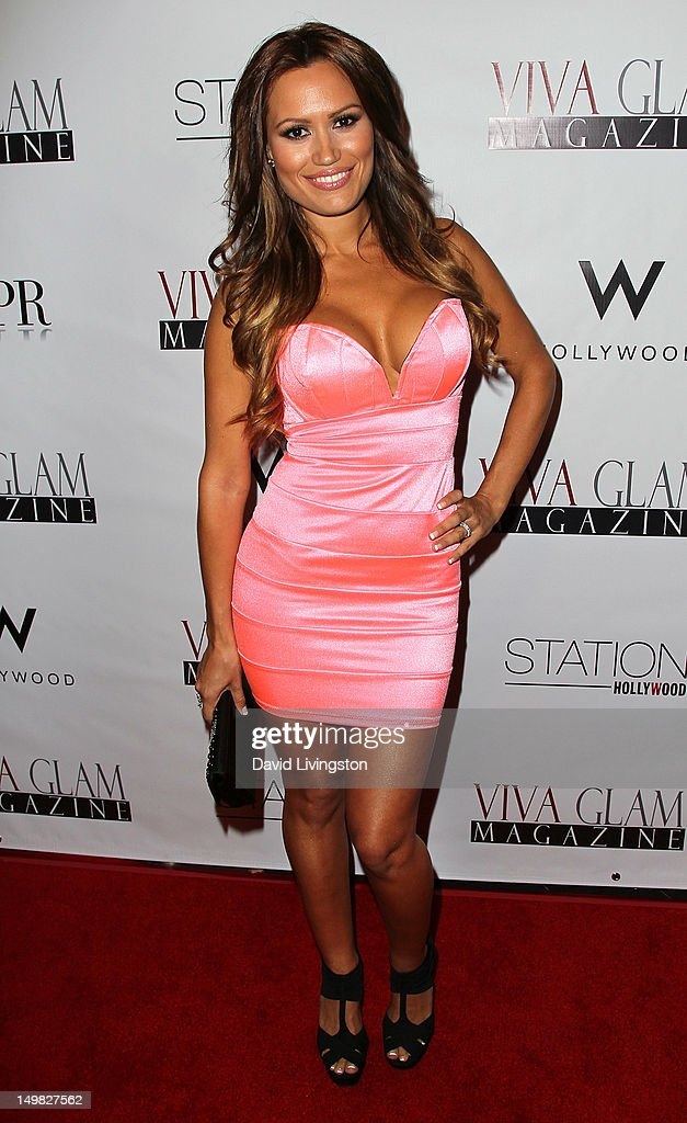 Model Ramona Michelle attends the Viva Glam Magazine September Issue launch party at Station Hollywood on July 31, 2012 in Hollywood, California.