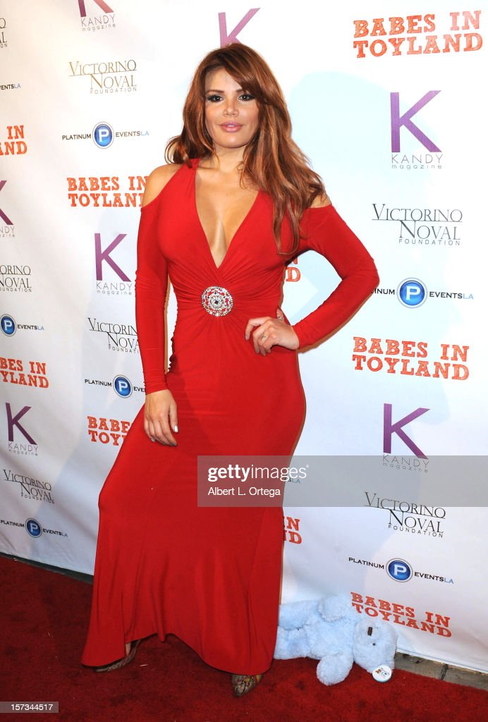Model Raquel Rischard arrives for the 5th Annual Babes In Toyland Charity Toy Drive to benefit Los Angeles County Sheriff's Department Toy Drive held at Confidential on December 1, 2012 in Beverly Hills, California.