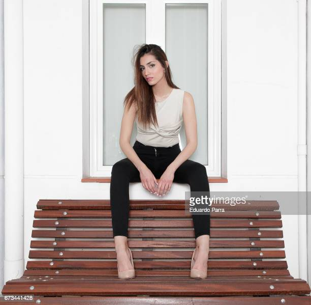 Model Raquel Tejedor attends a portrait session on April 26 2017 in Madrid Spain