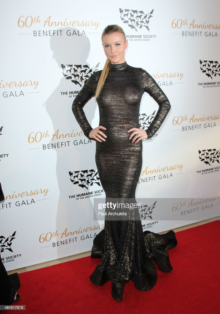 Model / Reality TV Personality <a gi-track='captionPersonalityLinkClicked' href=/galleries/search?phrase=Joanna+Krupa&family=editorial&specificpeople=224038 ng-click='$event.stopPropagation()'>Joanna Krupa</a> attends the Humane Society Of The United States 60th Anniversary Benefit Gala at The Beverly Hilton Hotel on March 29, 2014 in Beverly Hills, California.