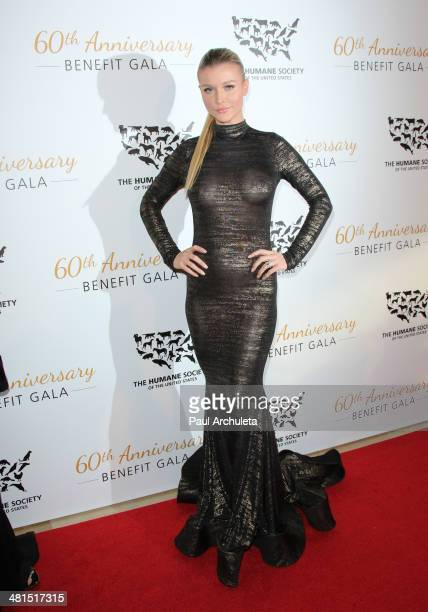 Model / Reality TV Personality Joanna Krupa attends the Humane Society Of The United States 60th Anniversary Benefit Gala at The Beverly Hilton Hotel...