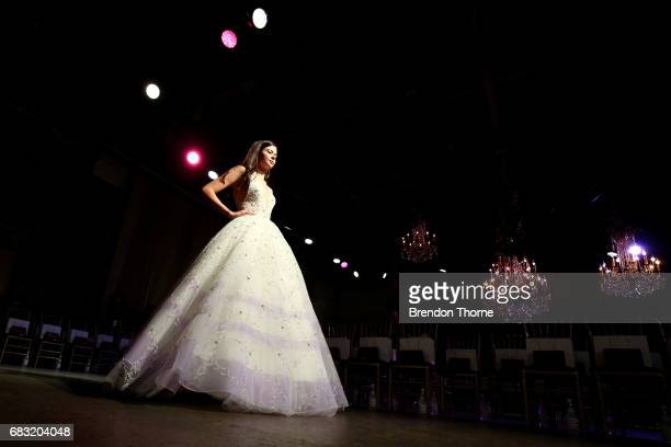 A model rehearses ahead of the Steven Khalil show at MercedesBenz Fashion Week Resort 18 Collections at Elston Room on May 15 2017 in Sydney Australia