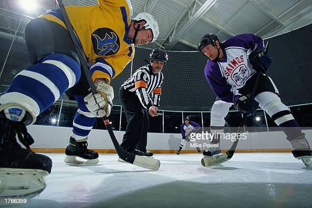 Ice hockey faceoff