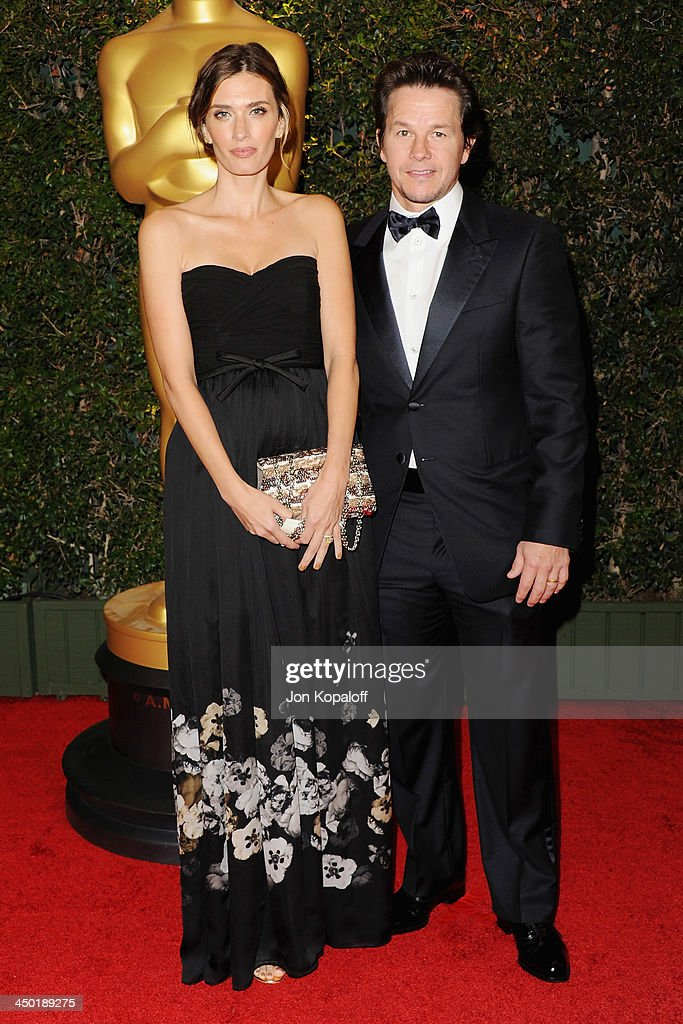 Model Rhea Durham and husband actor Mark Wahlberg arrive at The Board Of Governors Of The Academy Of Motion Picture Arts And Sciences' Governor...