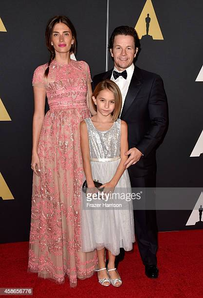 Model Rhea Durham Ella Wahlberg and actor Mark Wahlberg attend the Academy Of Motion Picture Arts And Sciences' 2014 Governors Awards at The Ray...