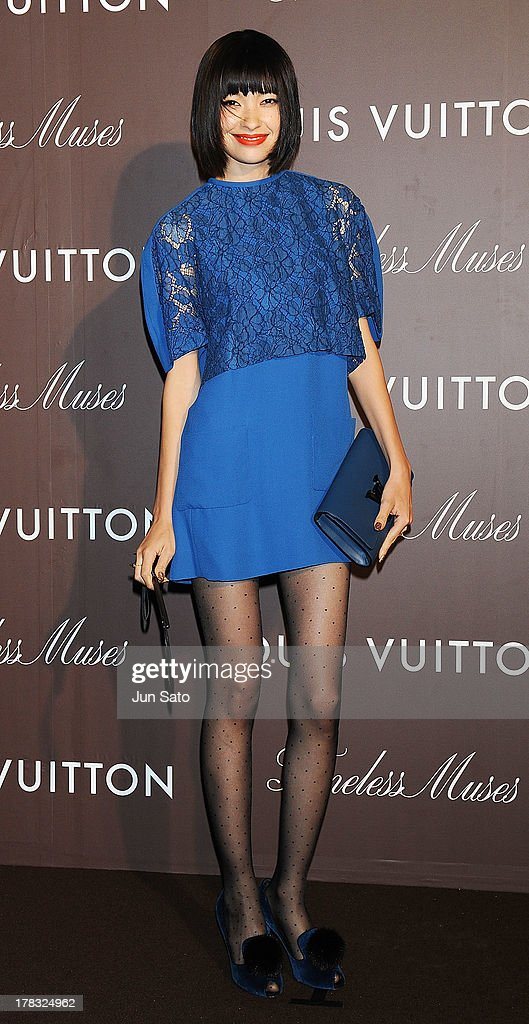 Model Rina Ota attends Louis Vuitton 'Timeless Muses' exhibition at the Tokyo Station Hotel on August 29, 2013 in Tokyo, Japan.