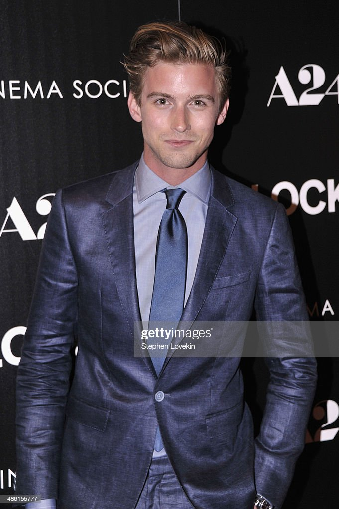 Model RJ King attends the A24 and The Cinema Society premiere of 'Locke' at The Paley Center for Media on April 22, 2014 in New York City.