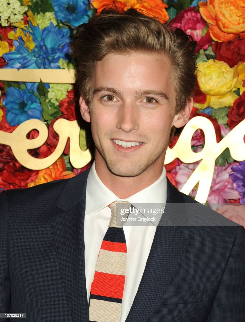 Model RJ King attends the Ferragamo Celebrates The Launch Of L'Icona Highlighting The 35th Anniversary Of Vara at The McKittrick Hotel, Home of Sleep No More on April 30, 2013 in New York City.