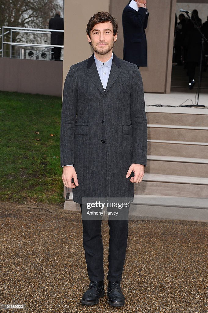 Model Robert Konjic attends the Burberry Prorsum show during The London Collections: Men Autumn/Winter 2014 on January 8, 2014 in London, England.