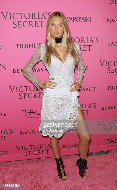 Model Romee Strijd attends the 2015 Victoria's Secret Fashion Show after party at TAO Downtown on November 10 2015 in New York City