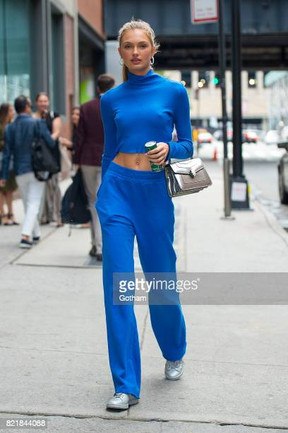 Model Romee Strijd is seen in Chelsea on July 24 2017 in New York City