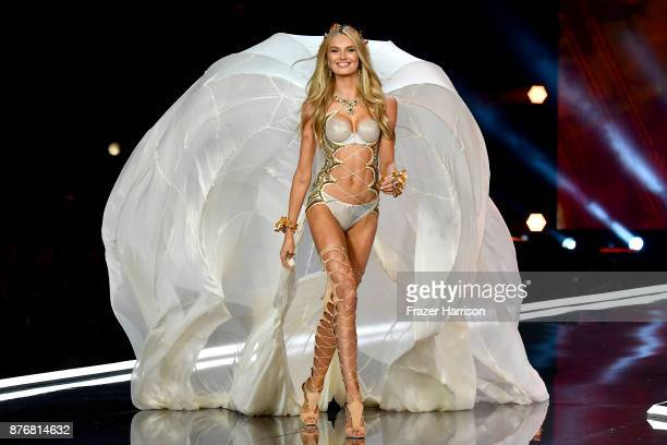 Model Romee Strijd walks the runway during the 2017 Victoria's Secret Fashion Show In Shanghai at MercedesBenz Arena on November 20 2017 in Shanghai...