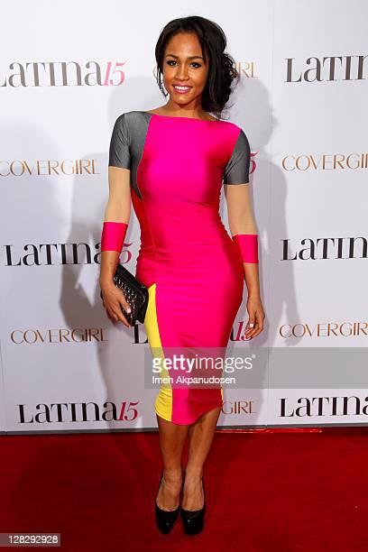 Model Rosa Acosta attends Latina Magazine's 15th Anniversary Celebration at The Globe Theatre on October 5 2011 in Universal City California
