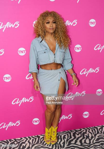Model Rosa Acosta attends the premiere of TNT's 'Claws' at Harmony Gold Theatre on June 1 2017 in Los Angeles California