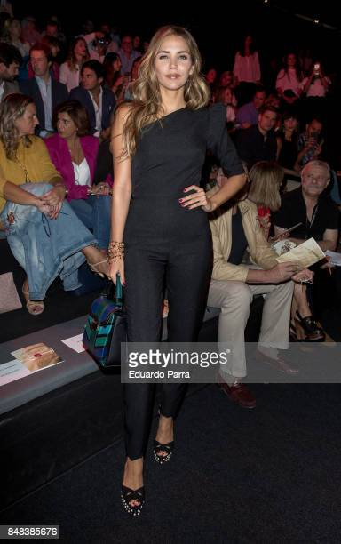 Model Rosanna Zanetti is seen at the Juana Martin show during MercedesBenz Fashion Week Madrid Spring/Summer 2018 at Ifema on September 15 2017 in...