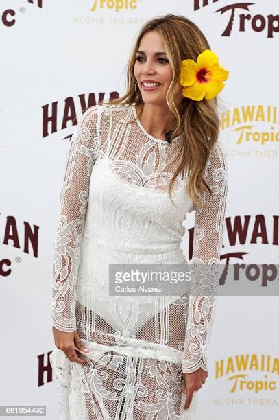 Model Rosanna Zanetti presents Hawaiian Tropic 2017 at the Emperador Hotel on May 11 2017 in Madrid Spain